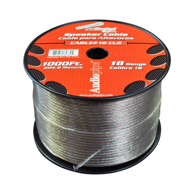Audiopipe CABLE181000 Speaker Wire 18 Ga 1000' Clear(Cbp181000)