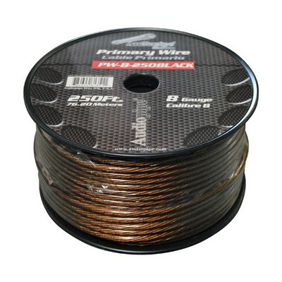 Audiopipe PW8BK Power Wire 8Ga 250' Black