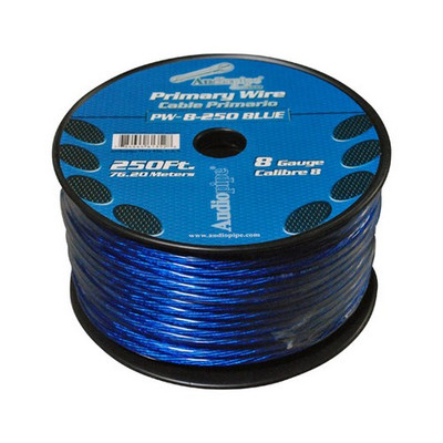 Audiopipe PW8BL Power Wire 8Ga 250' Blue