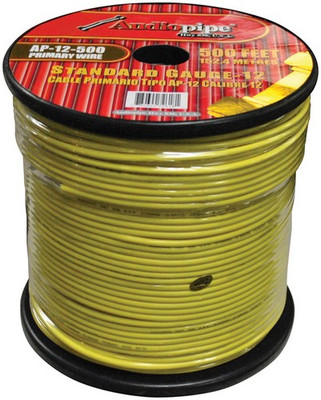 Audiopipe AP12500YW 12 Gauge 500Ft Primary Wire Yellow