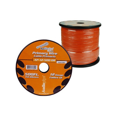 Audiopipe AP12500OR 12 Gauge 500Ft Primary Wire Orange