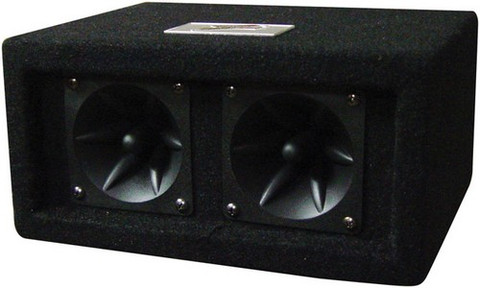 "Audiopipe Z20C Zebra 2 4"" Piezo Tweeters In Tweeter Box 100 Watts Max"