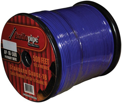 Audiopipe AP18500BL (PW18) 18Ga Wire 500' Blue
