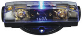 Audiopipe CQ1221P Fuseholder ANL Blue LED; Platinum