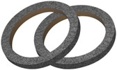 "Audiopipe RING06CBK Nippon 6"" MDF Ring With Black Carpet Sold In Pairs"