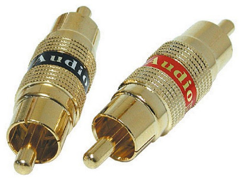 Audiopipe Q120 RCA Adapter Dual Male *Pair*