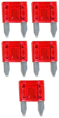 Audiopipe AST10A Ast Fuse 10 Amp 5 Pack Mini Blade; Blister Pack