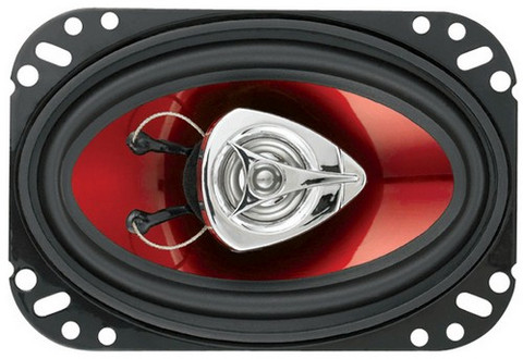 "Boss Audio CH4620 4X6"" Speaker 2-Way Red Poly Injection Cone"