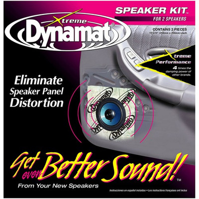 "Dynamat 10415 Xtreme 1.4 Sq. Ft. Speaker Kit; 2 Pcs 10""X10"""