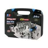 Channellock 38054 24 Pc Uni-Fit Socket Set