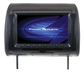 "Power Acoustik HDVD91CC 9"" Headrest Monitor 3-Color Skins LCD/DVD USB/SD"