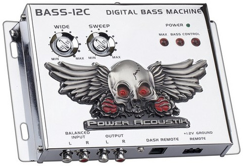 Power Acoustik BASS12C Bass Driver Chrome;Remote;Illuminated
