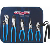 Channellock TOOLROLL1 Technician's Plier Set with Tool Roll/Pouch