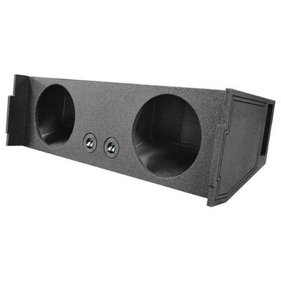 "Qpower QBSUV12V Bomb Dual 12"" Woofer Box 2007-2014 Chevy Tahoe 3Rd Row Vented"