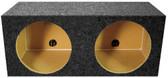 "Qpower QMPSQ12E Empty Woofer Box (2)12"" Square Style; *Mspq12E*"