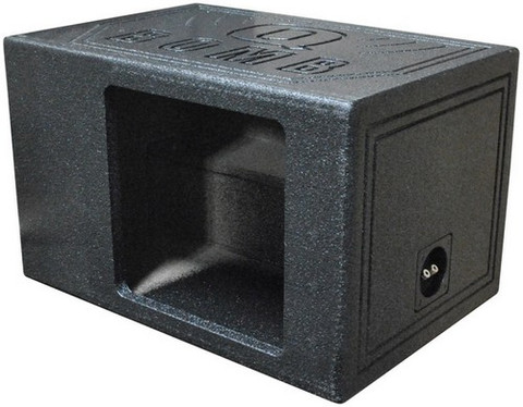 "Qpower QBOMB12VLSINGSQ Single 12"" Bomb Box Vented Square Hole"