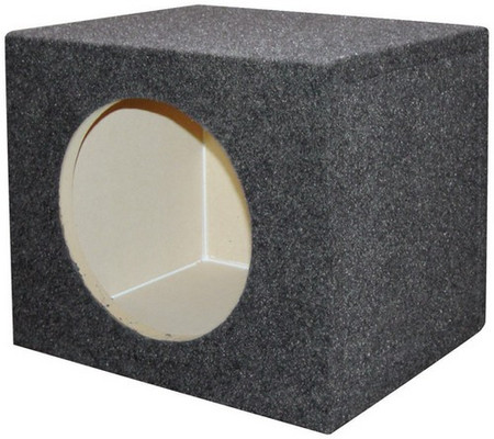"Qpower QSMPSQ10E Empty Woofer Box 10"" Square"