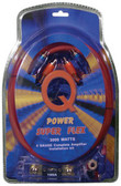 Qpower 4GAMPKITSFLEX 4 Gauge Amp Kit Super Flex