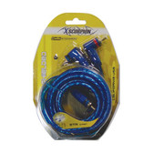 Xscorpion 6TR RCA Cable 6' Blue Triple Shielded W/Remote Wire