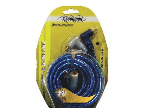Xscorpion 15TR RCA Cable 15' Blue Triple Shielded W/Remote Wire