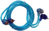 Xscorpion STP3 RCA Cable 3' Right Angle Blue/Platinum Twisted