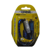 Xscorpion Y2FTR RCA Splitter 1M-2F Blue;Triple Shielded