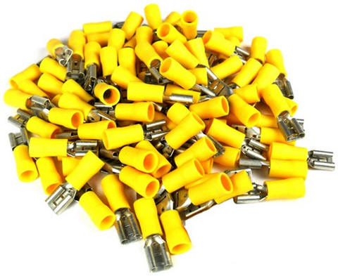 Xscorpion FD250Y Quick Disconnect 10-12 Ga. 100 Pcs; Yellow; Female;