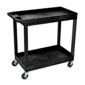 Luxor EC11-B Two Shelf Utility Cart