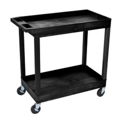 Luxor EC11-B Two Shelf Utility Cart