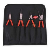 Knipex 001953US 4 Piece Snap Ring Set, Int/Ext Straight