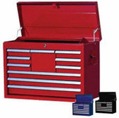 "ATD Tools 7120RD 26"" 10-Drawer Chest, 12"" Depth- Red"