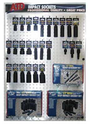 """ATD Tools 20021-3 1/2"""" Dr Popular Impact Socket Display Fixture & Product Drop"""