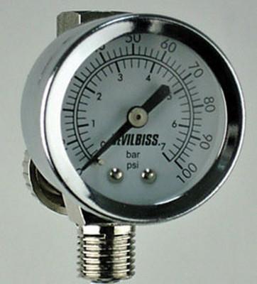 DeVilbiss HAV512 Air Adj. Valve & Gauge 100 PSI