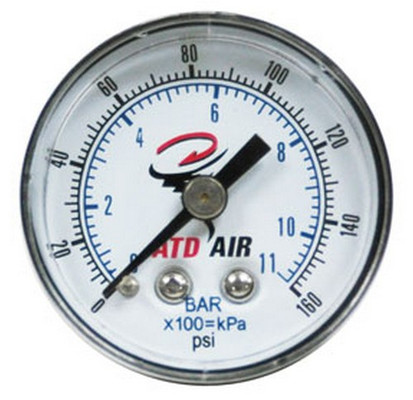 ATD Tools 7922 Air Gauge 0-160 PSI, Back Mount