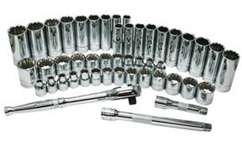 "ATD Tools 12477 3/8"" Drive 12 Point Deep Socket, 17mm"
