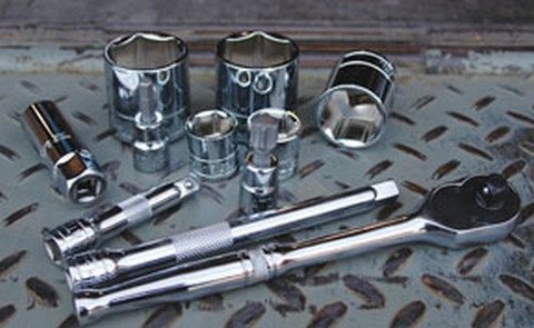 "ATD Tools 136010 1/2"" Dr. 6 pt Chrome Socket, 15/16"""