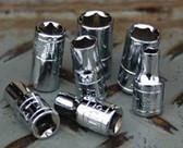 "ATD Tools 120025 1/4"" Drive 6-Point Deep Metric Socket -12mm"