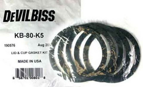 DeVilbiss KB80K5 Lid & Cup Gasket