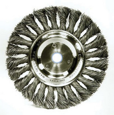 """ATD Tools 8353 4 """" Twisted Tuft Wire Wheel Brush"""