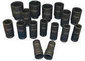 "ATD Tools 6406 3/4"" Dr. Deep Metric Impact Socket Set, 16 pc."