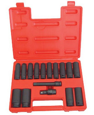 ATD Tools 4350 Deep Metric Impact Socket Set, 16 pc.
