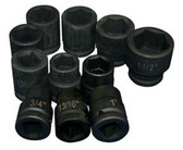 ATD Tools 6404 6-Point Truck Service Impact Socket Set, 11 pc.