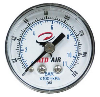 ATD Tools 7921 Gauge 0-160 psi Standard, Back Mount