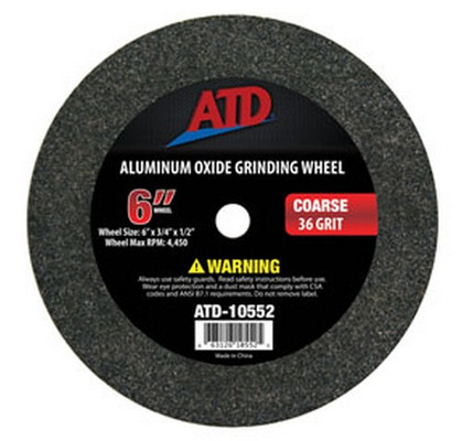 "ATD Tools 10552 Replacement 6"" Coarse Grit Grinding Wheel"