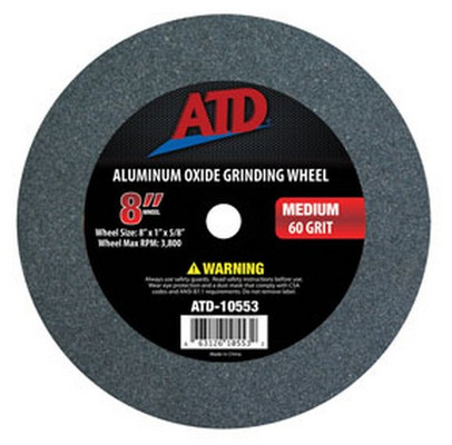 "ATD Tools 10553 Replacement 8"" Medium Grit Grinding Wheel"