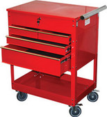 ATD Tools 7045 Professional 4-Drawer Service Cart, Red