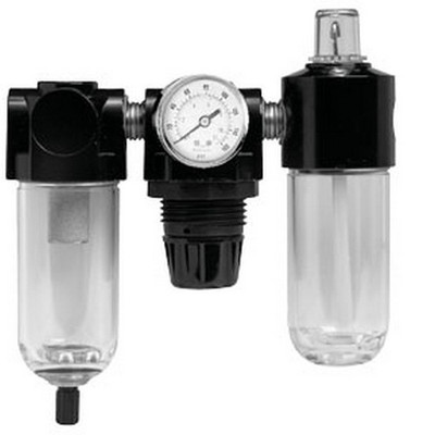 ATD Tools 7869 Poly Filter, Regulator, Lubricator and Gauge Modular Unit with Manual Drain