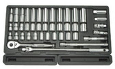 "ATD Tools 1365 1/2"" Driver SAE/Metric Socket Set, 43 pc."