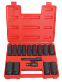 "ATD Tools 4450 1/2"" Dr. 15 pc. SAE Deep Impact Socket Set"