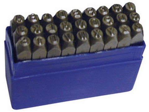"ATD Tools 9602 1/4"" Steel Letter Stamp Set, 27 pc."